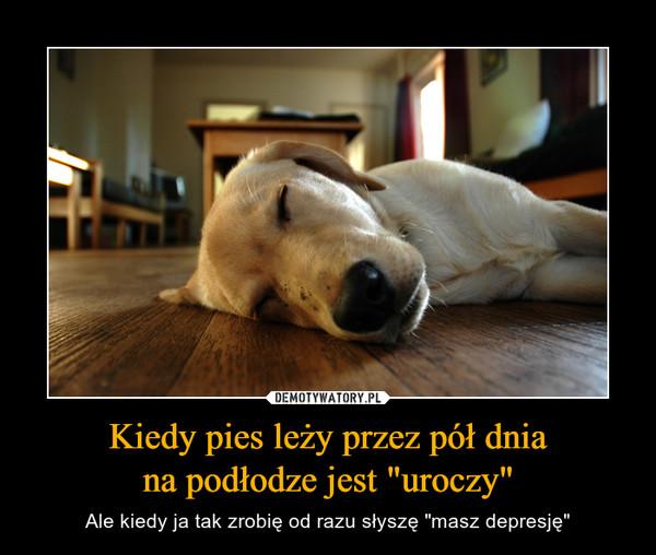 """Kiedy pies leży przez pół dniana podłodze jest """"uroczy"""" – Ale kiedy ja tak zrobię od razu słyszę """"masz depresję"""""""