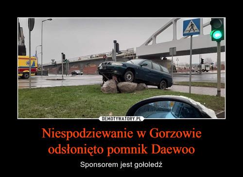 Niespodziewanie w Gorzowie odsłonięto pomnik Daewoo
