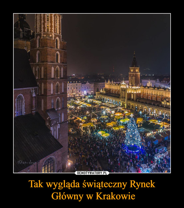Tak wygląda świąteczny Rynek Główny w Krakowie –