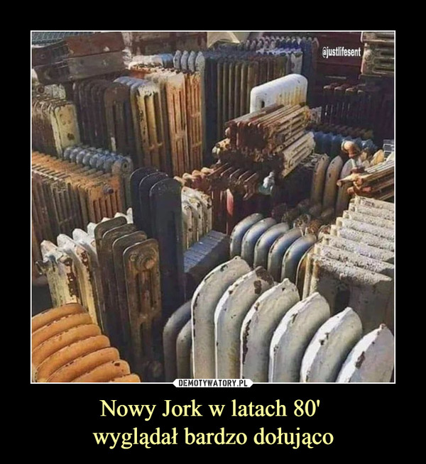 Nowy Jork w latach 80' wyglądał bardzo dołująco –