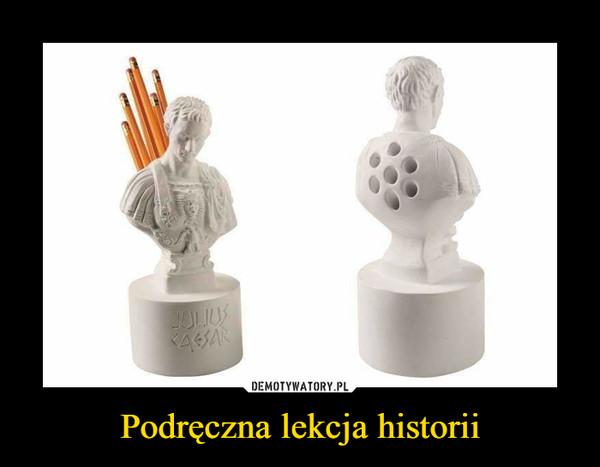 Podręczna lekcja historii –