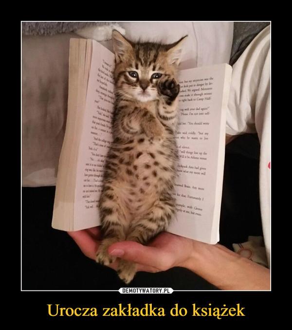 Urocza zakładka do książek –