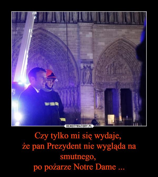 Czy tylko mi się wydaje, że pan Prezydent nie wygląda na smutnego, po pożarze Notre Dame ... –