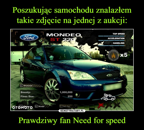 Prawdziwy fan Need for speed –