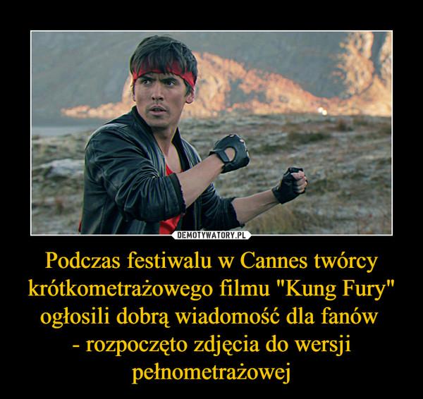 """Podczas festiwalu w Cannes twórcy krótkometrażowego filmu """"Kung Fury"""" ogłosili dobrą wiadomość dla fanów - rozpoczęto zdjęcia do wersji pełnometrażowej –"""