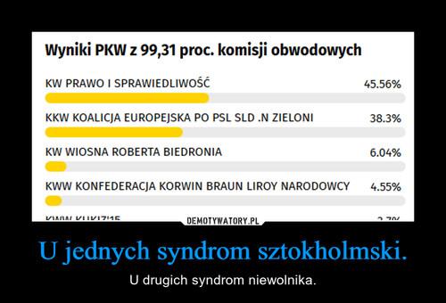 U jednych syndrom sztokholmski.