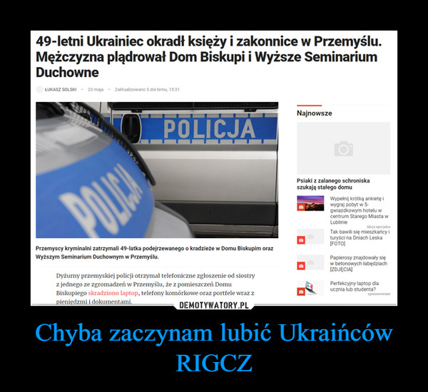 Chyba zaczynam lubić Ukraińców RIGCZ –