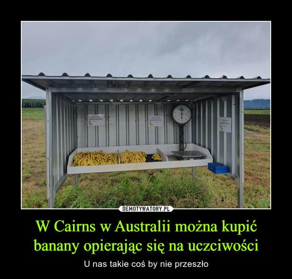 W Cairns w Australii można kupić banany opierając się na uczciwości – U nas takie coś by nie przeszło