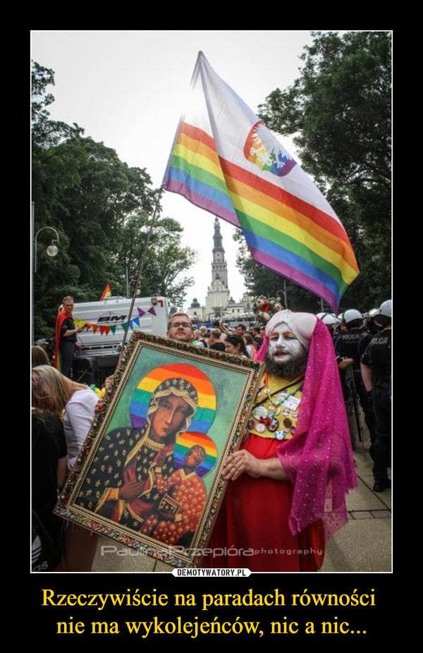 Rzeczywiście na paradach równości nie ma wykolejeńców, nic a nic... –