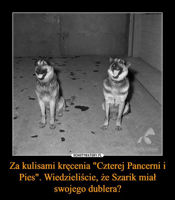 """Za kulisami kręcenia """"Czterej Pancerni i Pies"""". Wiedzieliście, że Szarik miał swojego dublera? –"""