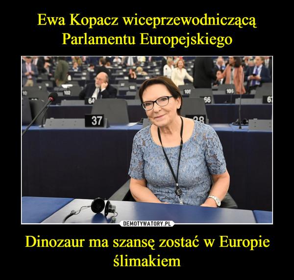Dinozaur ma szansę zostać w Europie ślimakiem –