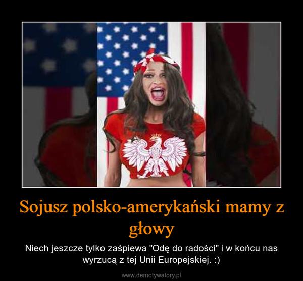 """Sojusz polsko-amerykański mamy z głowy – Niech jeszcze tylko zaśpiewa """"Odę do radości"""" i w końcu nas wyrzucą z tej Unii Europejskiej. :)"""