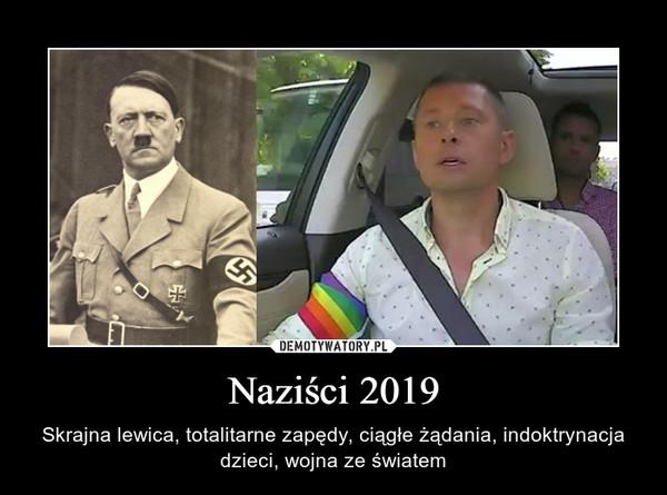 Naziści 2019 – Skrajna lewica, totalitarne zapędy, ciągłe żądania, indoktrynacja dzieci, wojna ze światem