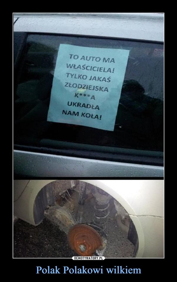 Polak Polakowi wilkiem –  To auto ma właściciela tylko jakaś złodziejska k**a ukradła nam koła