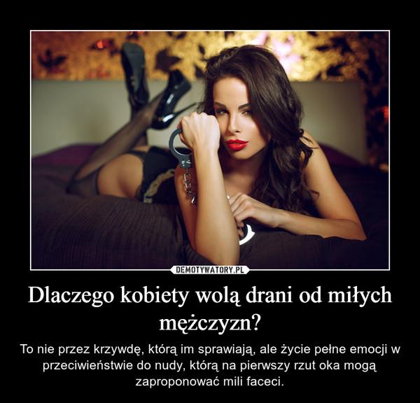 Dlaczego kobiety wolą drani od miłych mężczyzn? – To nie przez krzywdę, którą im sprawiają, ale życie pełne emocji w przeciwieństwie do nudy, którą na pierwszy rzut oka mogą zaproponować mili faceci.