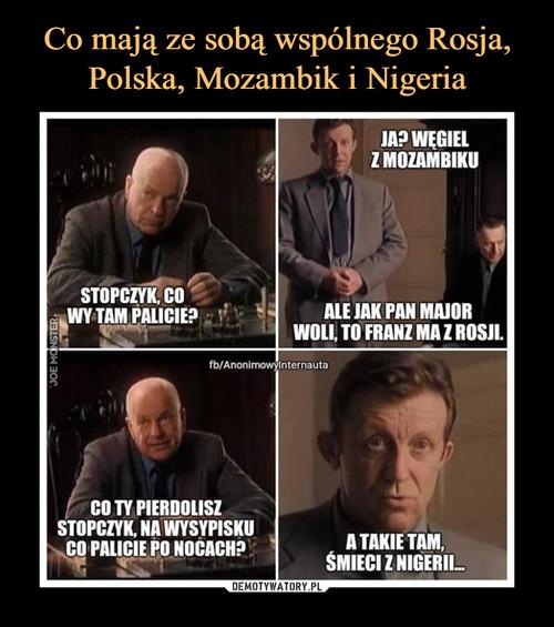 Co mają ze sobą wspólnego Rosja, Polska, Mozambik i Nigeria