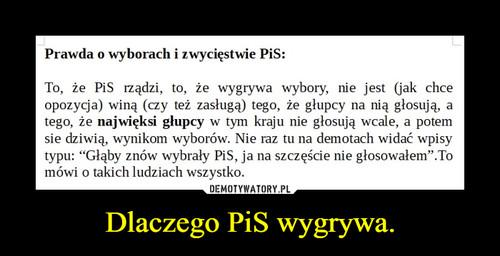 Dlaczego PiS wygrywa.