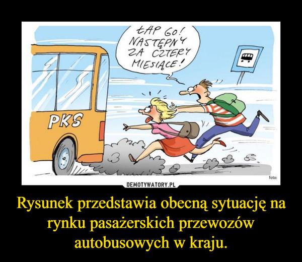 Rysunek przedstawia obecną sytuację na rynku pasażerskich przewozów autobusowych w kraju. –