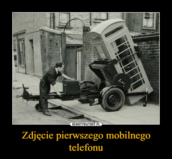 Zdjęcie pierwszego mobilnego telefonu –