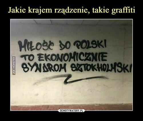 Jakie krajem rządzenie, takie graffiti