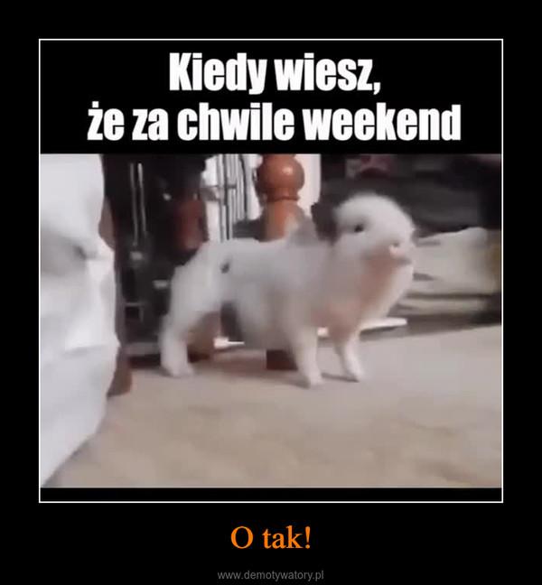 O tak! –  kiedy wiesz że za chwilę weekend