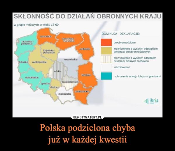 Polska podzielona chybajuż w każdej kwestii –