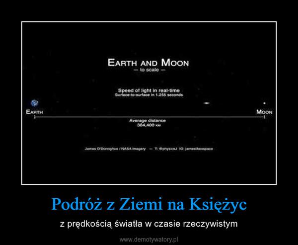 Podróż z Ziemi na Księżyc – z prędkością światła w czasie rzeczywistym