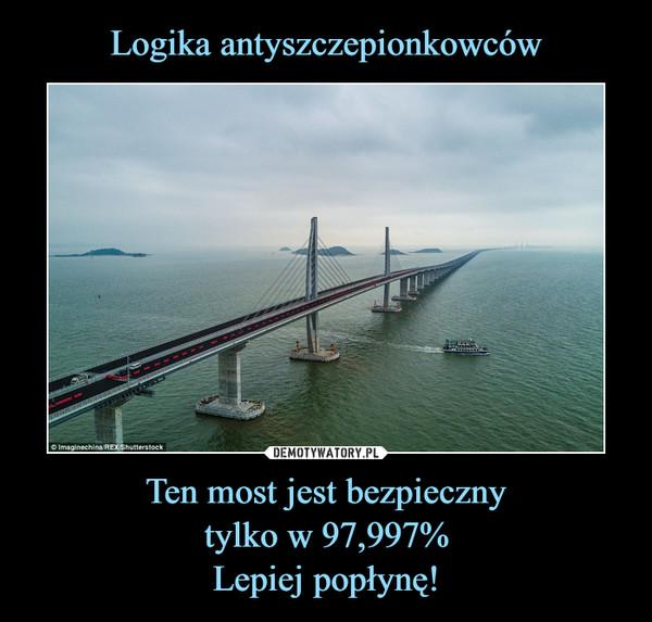 Ten most jest bezpiecznytylko w 97,997%Lepiej popłynę! –