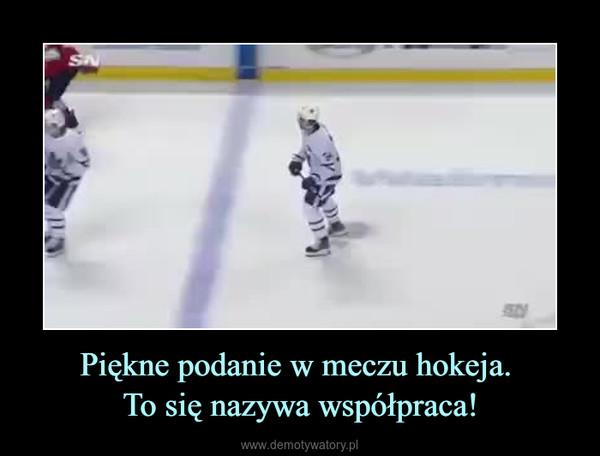 Piękne podanie w meczu hokeja. To się nazywa współpraca! –