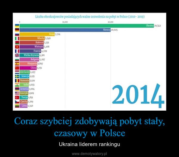 Coraz szybciej zdobywają pobyt stały, czasowy w Polsce – Ukraina liderem rankingu