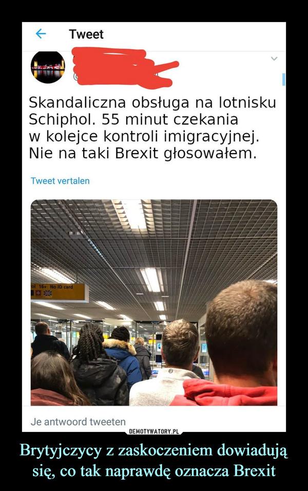 Brytyjczycy z zaskoczeniem dowiadują się, co tak naprawdę oznacza Brexit –