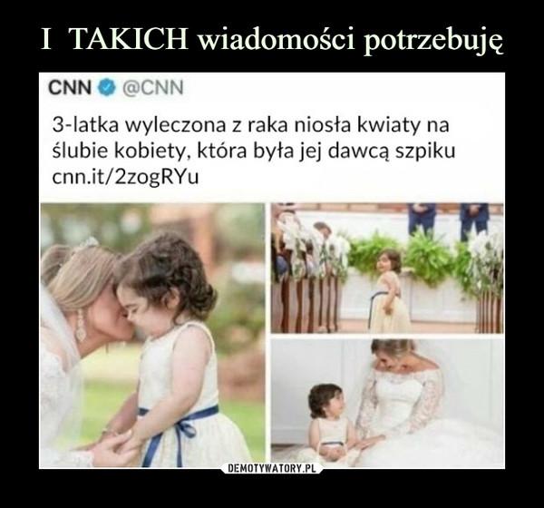 –  3-latka wyleczona z raka niosła kwiaty na ślubie kobiety, która była jej dawcą szpiku
