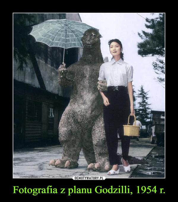 Fotografia z planu Godzilli, 1954 r. –