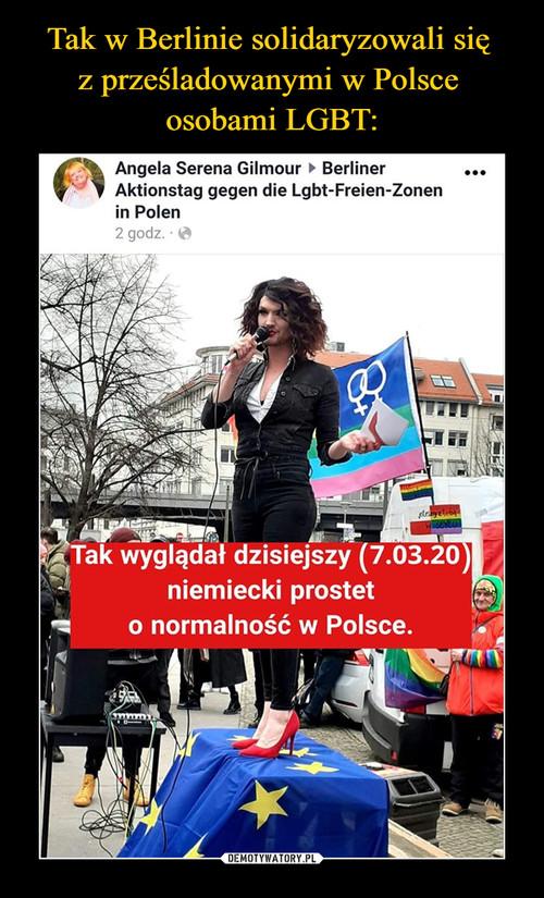 Tak w Berlinie solidaryzowali się  z prześladowanymi w Polsce  osobami LGBT: