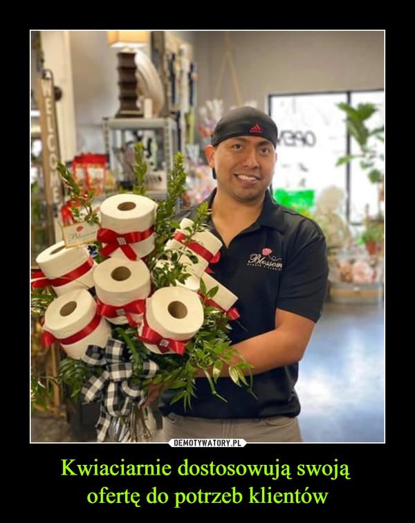 Kwiaciarnie dostosowują swoją ofertę do potrzeb klientów –