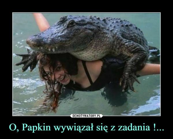 O, Papkin wywiązał się z zadania !... –
