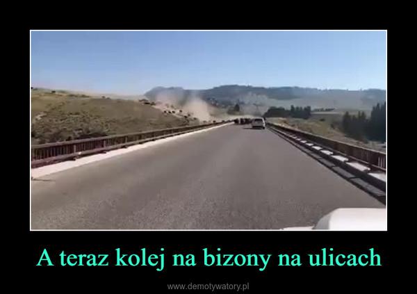 A teraz kolej na bizony na ulicach –