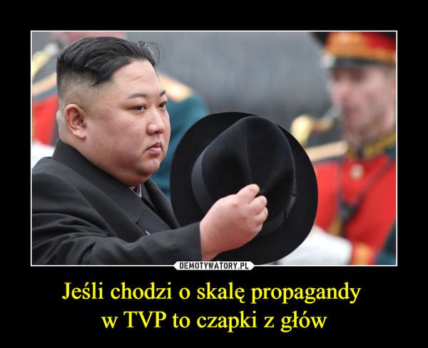 Jeśli chodzi o skalę propagandy w TVP to czapki z głów –
