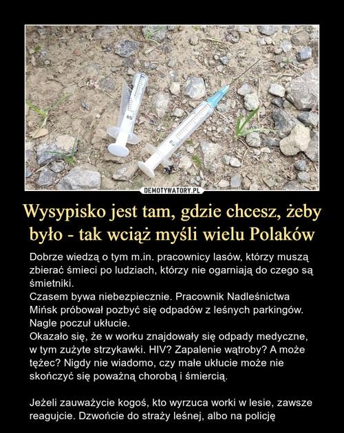 Wysypisko jest tam, gdzie chcesz, żeby było - tak wciąż myśli wielu Polaków