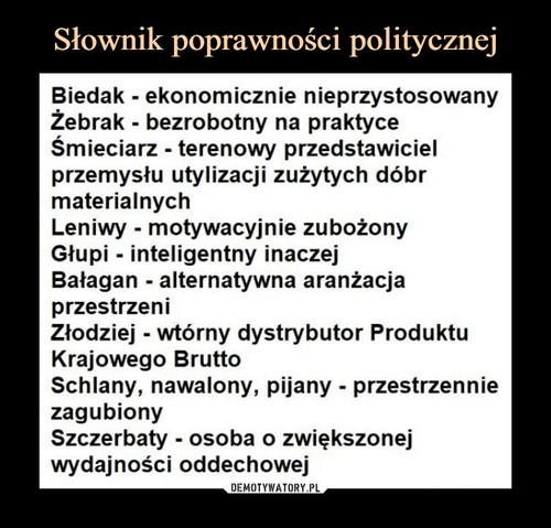 Słownik poprawności politycznej