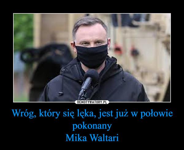 Wróg, który się lęka, jest już w połowie pokonanyMika Waltari –