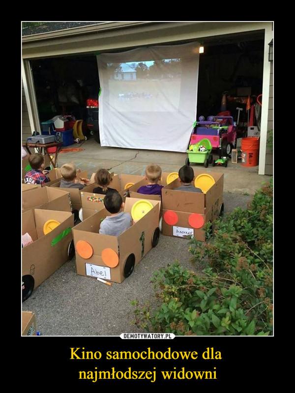 Kino samochodowe dla najmłodszej widowni –