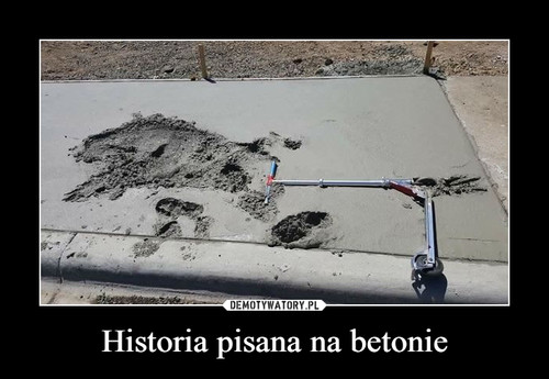 Historia pisana na betonie