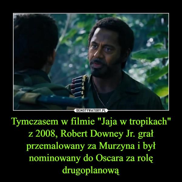 """Tymczasem w filmie """"Jaja w tropikach"""" z 2008, Robert Downey Jr. grał przemalowany za Murzyna i był nominowany do Oscara za rolę drugoplanową –"""