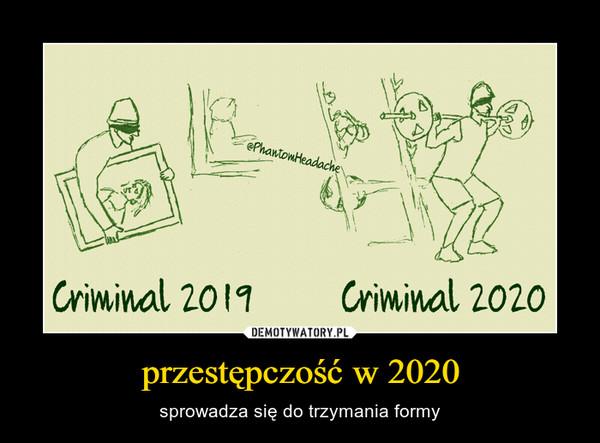 przestępczość w 2020 – sprowadza się do trzymania formy