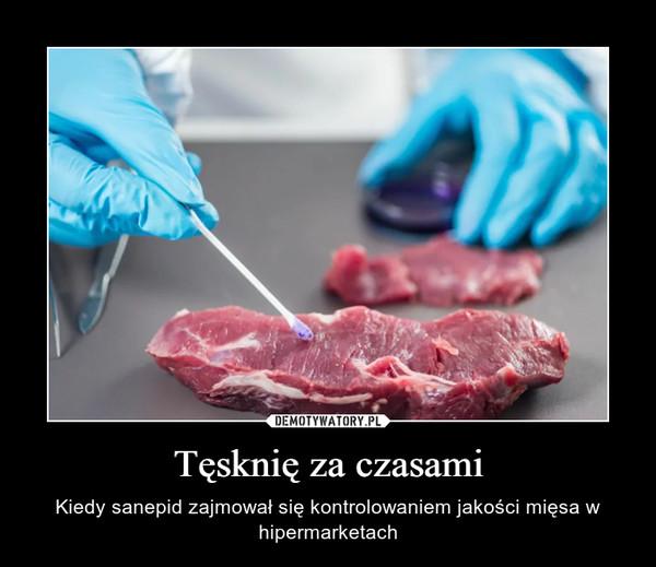 Tęsknię za czasami – Kiedy sanepid zajmował się kontrolowaniem jakości mięsa w hipermarketach