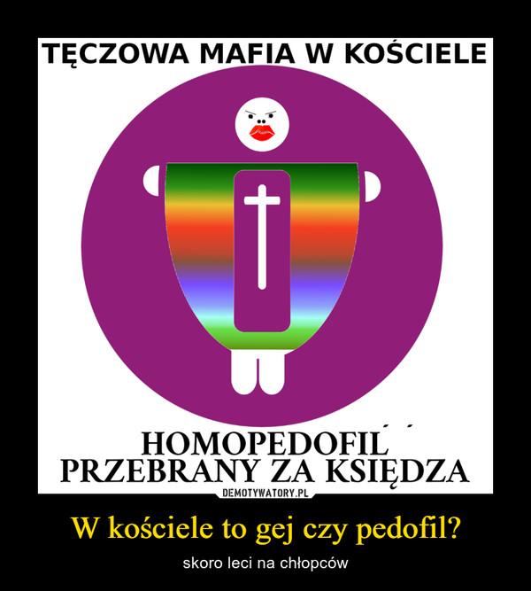 W kościele to gej czy pedofil? – skoro leci na chłopców