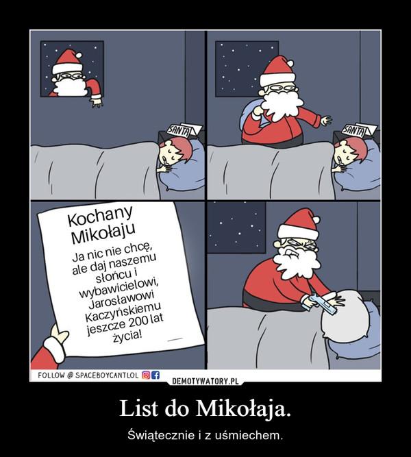 List do Mikołaja. – Świątecznie i z uśmiechem.