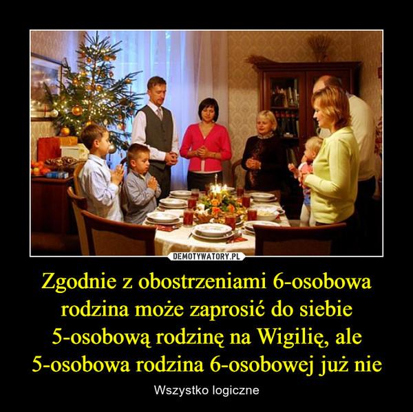 Zgodnie z obostrzeniami 6-osobowa rodzina może zaprosić do siebie 5-osobową rodzinę na Wigilię, ale 5-osobowa rodzina 6-osobowej już nie – Wszystko logiczne