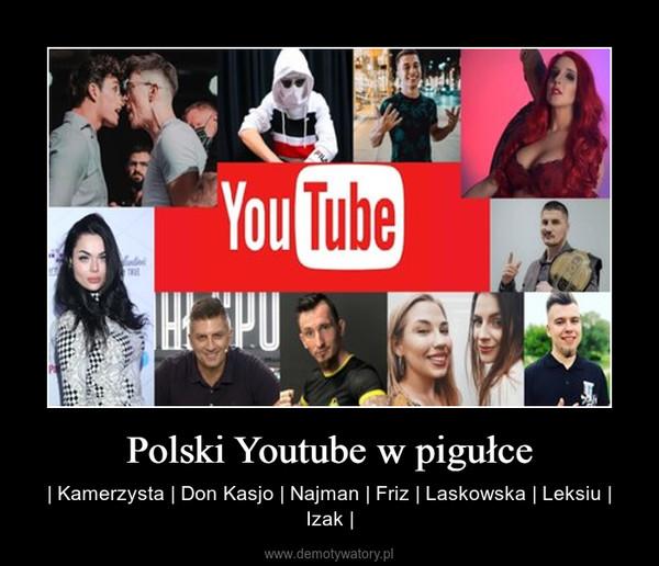 Polski Youtube w pigułce –   Kamerzysta   Don Kasjo   Najman   Friz   Laskowska   Leksiu   Izak  